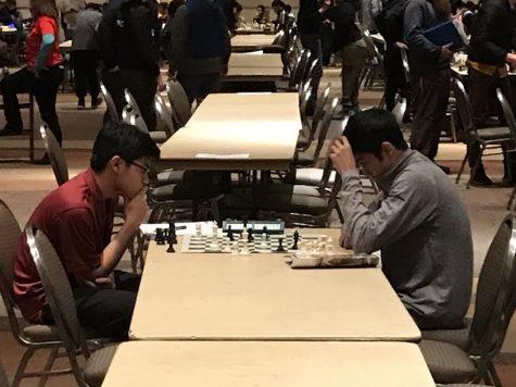 Boys' chess team masters board