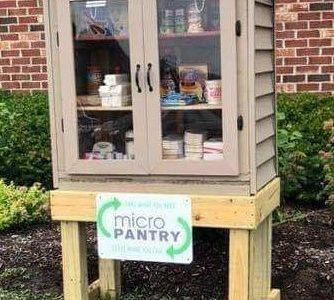 North junior, Opens Micro-Pantry for Eagle Project