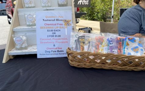 Grandma's Pure Natural Honey Booth set up at the Plainfields Farmers' Market on Sunday, Sept. 20.