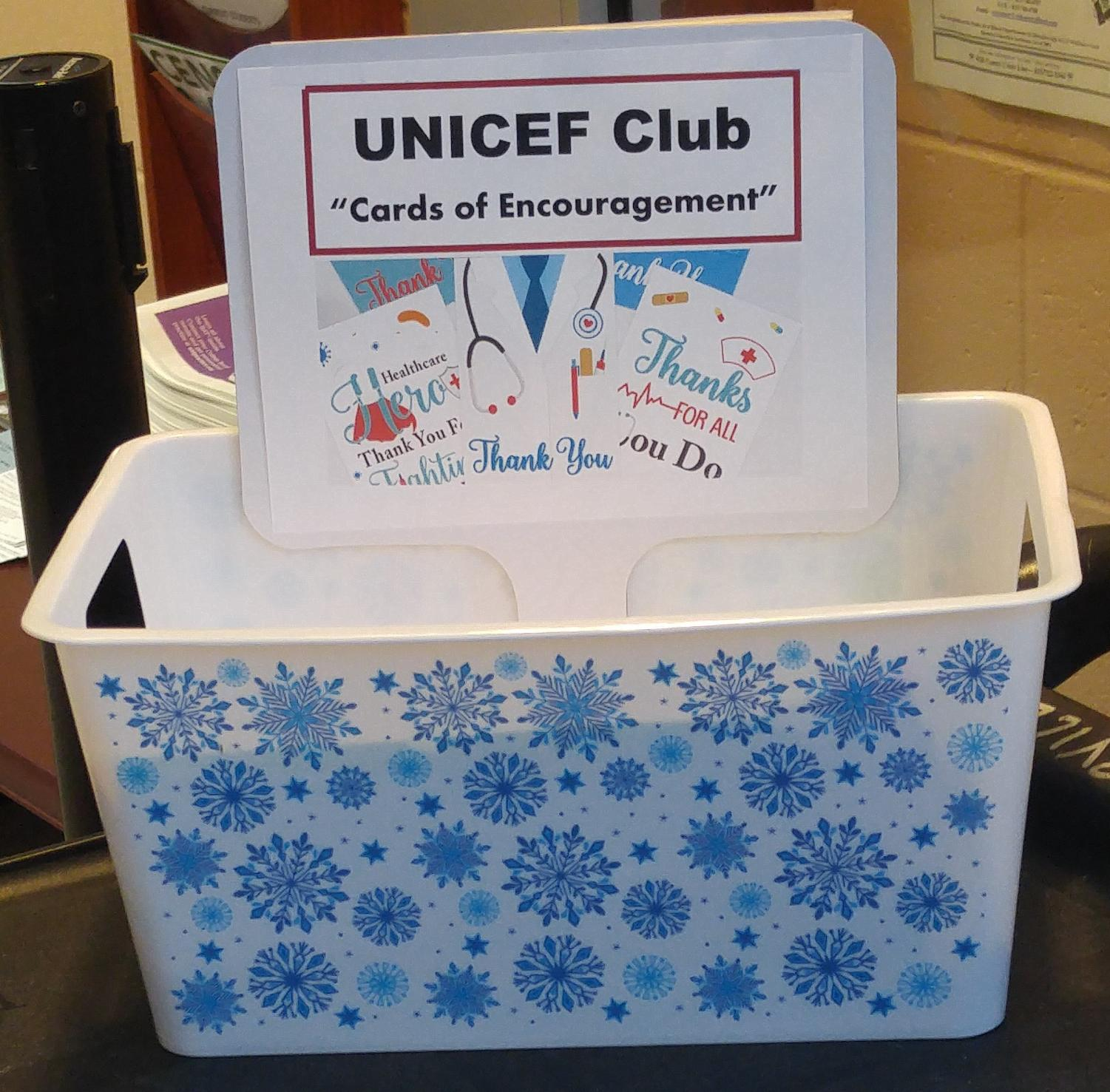 """Unicef and ARK Clubs """"Cards of Encouragement"""" for healthcare workers"""