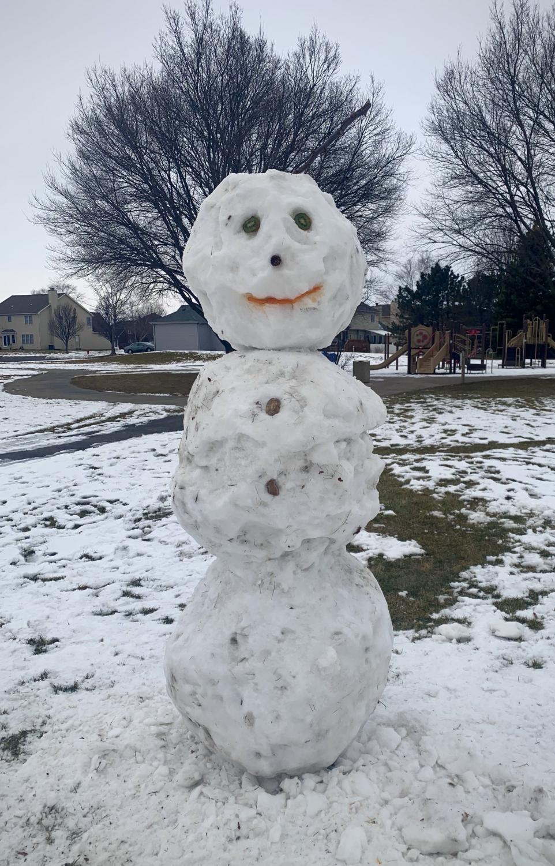 Children take advantage of heavy snowfall at a Plainfield Park.