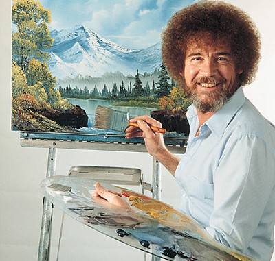 The Joy Of Painting was created and hosted by painter Bob Ross and ran from 1983 to 1994. Photo by Flickr